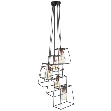 Pendant Light - Vintage Cube Cluster - Install Price
