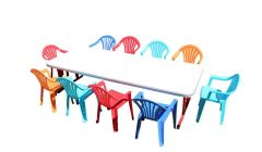 Trestle Table - Wood Childrens 1800m x 750mm (6') Short Legs