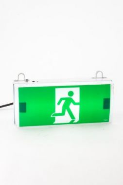 Green Exit Sign with Battery Back Up