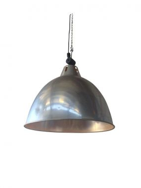 Pendant Light - Industrial Dome Silver - Install Price