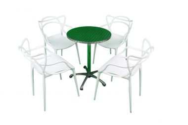 Cafe Package - Vine Chairs White & Ali Table