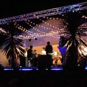 Festoon over dance floor with truss.JPG