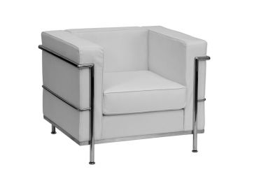 Lounge - White Leather 1 Seater