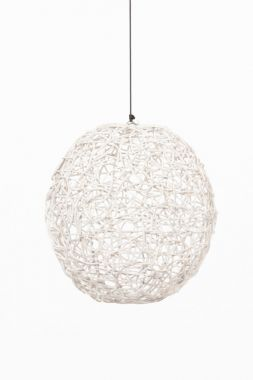 Wicker Ball 35cm - White