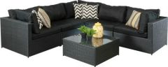 Lounge - Palma Modular Wicker Setting Dark Grey