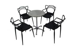 Cafe Package - Vine Chairs Black & Ali Table
