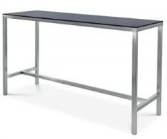 High Bar Bench 1.8m x 600mm - Black Top