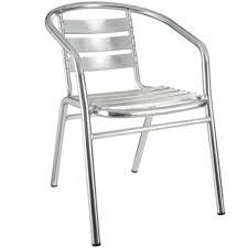 Chair - Stainless Steel Cafe