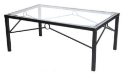 Coffee Table - Wrought Iron and Glass