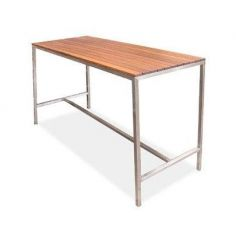 High Bar Bench 1.8m x 600mm - Jarrah Top