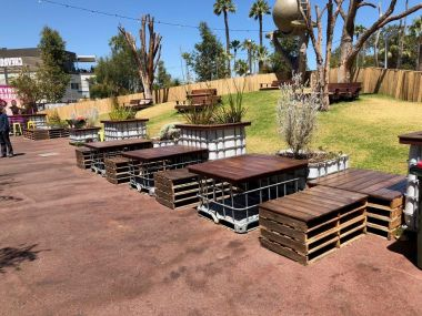 IBC Pallet Cafe Table