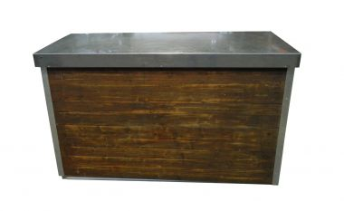 Rustic Bar w Shelf- 1800mm x 750mm
