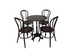 Cafe Package - Dark Oak Bentwood with Paris Base