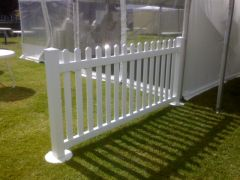 Picket Fence - White 2.5m