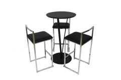 Cocktail Package - Vine Tables Black & Bar Stools