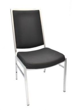 Chair - Black Padded Sydney Banquet