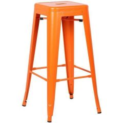 Bar Stool - Tolix - Orange