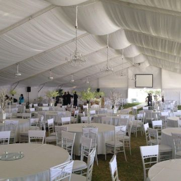 Marquee - South Perth Foreshore 25m White Silk Wedding Marquee