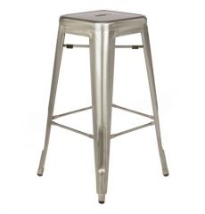 Bar Stool - Tolix - Galvanised Rustic